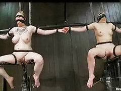 Strap -on, Tits machine, Tits bondage, Tit bondage, Strap big tits, Machine fuck
