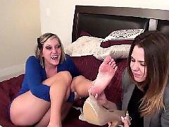 Pieds feet, Lesbienne, brunette