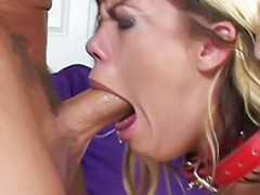 Tit anal swallow, With ass, Swallows cum, Stockings deepthroat, Masturbation with cum, Deepthroat blond