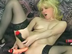 Anal double toy, Stockings solo blonde, Stockings solo anal, Stockings double penetration, Stockings double anal, Stockings anal solo