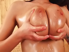 Oiled blowjob, Tits spermed, Teens big natural tits, Teen oiled, Teen huge tits, Teen cum on tits