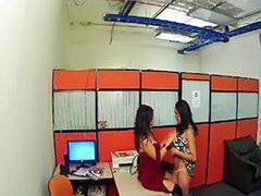 Lesbians office, Lesbians caught, Lesbian office, Lesbian in office, Lesbian caught masturbating, Latin lesbians