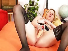 Tits playing, Tit playing, Blonde toy solo, Tits stockings solo, Tits solo toy masturbation, Tits solo mature