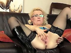 The mom, With mom, Plays with her, Playing dildo, Mature with dildo, Mature couch