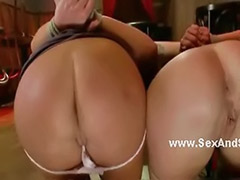 Pleasuring, Submissive sex, Submissive, Submissed, Bondage sex, Bondage threesome