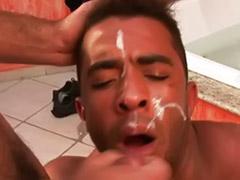 Fun gay, Bareback black cum, Bathroom gay sex