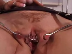 Pierced pussy, Mature blonde lesbians, Pussy punishment, Pussy pierced, Punished, Punish lesbian