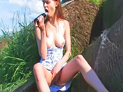 Vagina fingering, Toys outdoor, Solo outdoor, Solo girls fingering, Solo girl outdoor, Solo fingers