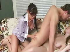 Threesome stepmom, Teen threesome big cock, Strict, Stepmoms, Matures big cock, Mature threesome blowjob
