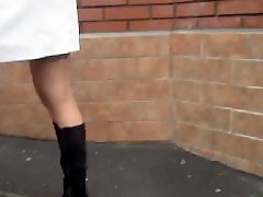 Voyeur upskirt, Upskirt flashing, Upskirt voyeur, Tanned, Tan stockings, Stockings tan