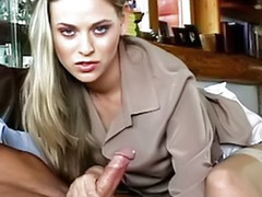 Stocking handjob, Handjob blonde, Stroking, Strokes, Stockings handjob, Stockings footjob
