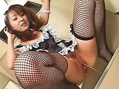 Pissing, Pee, Maid, Stockings solo, Hairy solo, Asian solo