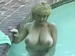 Solo pool, Solo busty blonde, Danny ashe, Big tits solo pool, Ashli, In pool