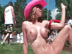 X moves, Tits party, Public showing, Public show, Public party, Party tits big
