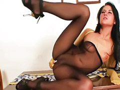 Stocking solo, Pantyhose solo, Stockings solo