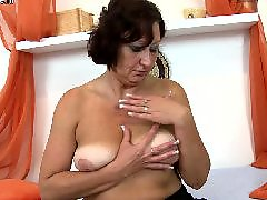 Granny, Mature dildo, Real, Old