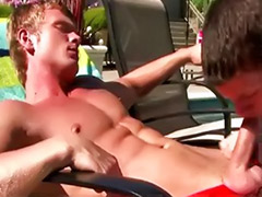 Tanned, Help, Tanning pool, Tanning gay, Pool gay, Helping couple