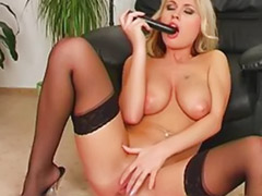 Wet girl, Wet masturbation, Stockings solo blonde, Stocking toys solo, Stocking toy solo blond, Stocking toy solo