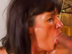 Milf swallow, German milf