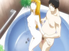 Hentai fucked, Blondie, Bathing, Bathing§, Animál, Anime couple