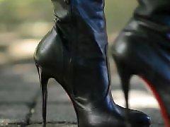 Public upskirt, Public hooker, Public boots, Highly, High heels, High boots