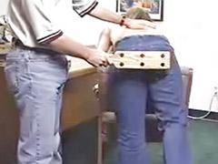 여학생엉덩이때리기, 여자아이체벌, 아줌마랑
