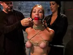 Bar bar, Bondage gagged, Bondage gag, Bounded, Bound gagged, Over