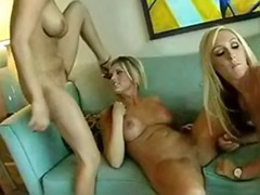 Threesome watching, Threesome blonde black, Threesome black and blonde, Watching threesome, Watching masturbation, Watching masturbating