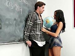 Colegialas follando, Latinas, Follando a una colegiala, Latino