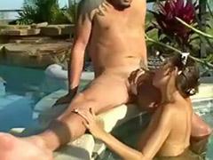 Sex in pool, In pool