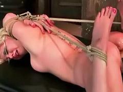 Shy girl, Tits bondage, Tits bdsm, Tit bondage, Tit bdsm, Shaved bondage
