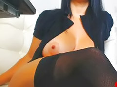 Stocking solo, Big tits solo, Stockings solo