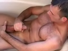 Piercing alone, Pierced gay, Solo in bathroom, Solo in the bathroom, Masturbating in bathroom, Gay pierced