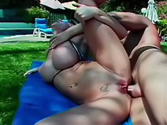 Pool, Deepthroat, Big tits anal, Ass licking