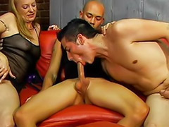 Threesome bisexual, Threesome mature blowjob cum, Tattooed pierced, Tattoo threesome, Tattoo piercing, Tattoo pierced