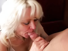 Riding a cock, Rides cock, Mature cock, Mature cum, Mature blonde blowjob, Riding sex