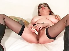 Anal & ass fucking, W-girls dildo, Toy and fucking, With ass, Stockings toying, Stocking toy fuck