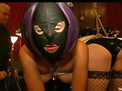 Mask group, Masked, Fetish group, Group bondage, Bondage spanking, Bondage spanked