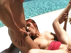 Redhead double penetration, Redhead double, Redhead ass, Sex hunt, Hunting, Double redhead