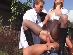 Threesome riding, Threesome pantyhose, Threesome boots, Riding pony, Riding her cum, Riding handjob