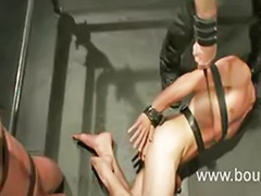 Flogged, Cock to cock, Threesome sucking, To cock, Made