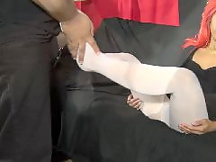 S cute, White pantyhose, White stocking, White asian, S-cute, Playtime