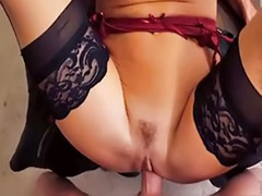 Veronica, Titfuck stockings pov, Titfuck stockings, Titfuck blowjob pov, Riding stockings, Riding pov
