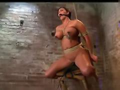 Tits bound, Tits bondage, Tit bound, Tit bondage, Suspended sex, Gagging big tits