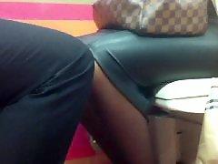 Upskirt, Black, Pantyhose