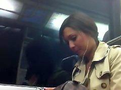 Voyeur, Upskirt, Pantyhose, Black, Metro