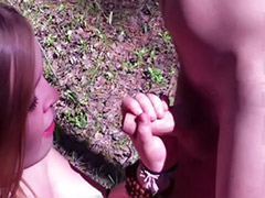 Tit suck chubby, Teen sucks big dick, Teen sucking dick, Teen outdoor handjob, Teen forests, Teen forest