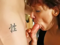 Mature handjob, German milf
