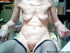 Granny, Old, Mature, Real, Cumshot
