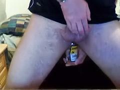 Amateur male anal solo